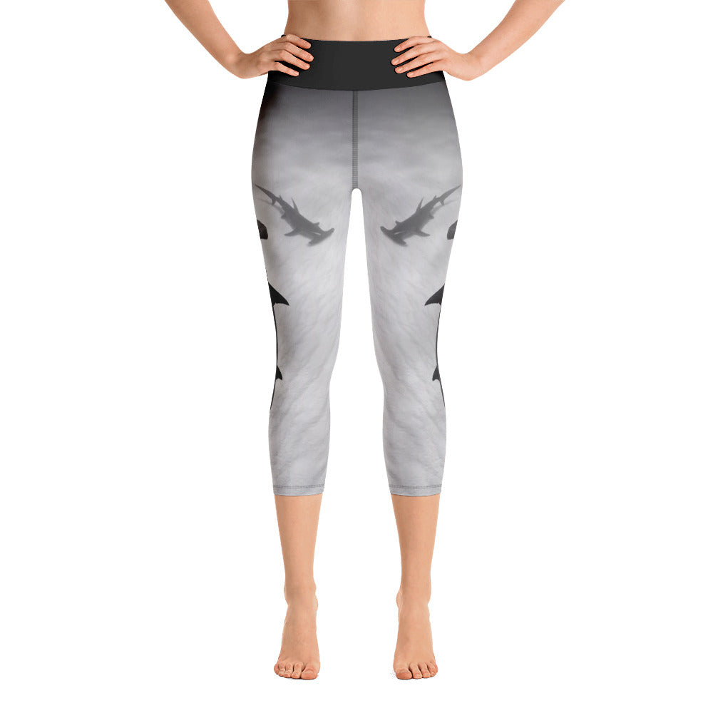 Hammerhead High Waisted Yoga Capri Leggings