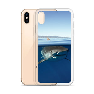 Tiger shark over under iPhone Case