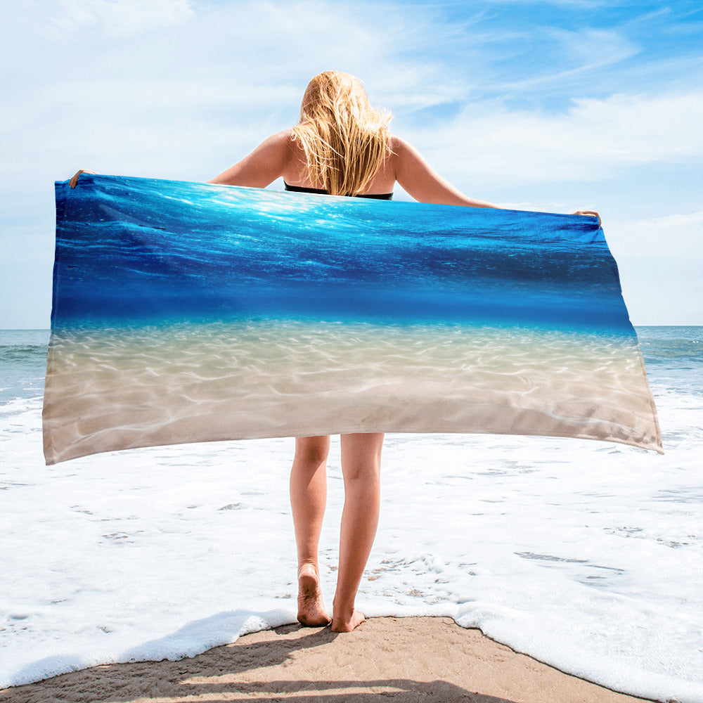 Under Water Beach Paradise Towel