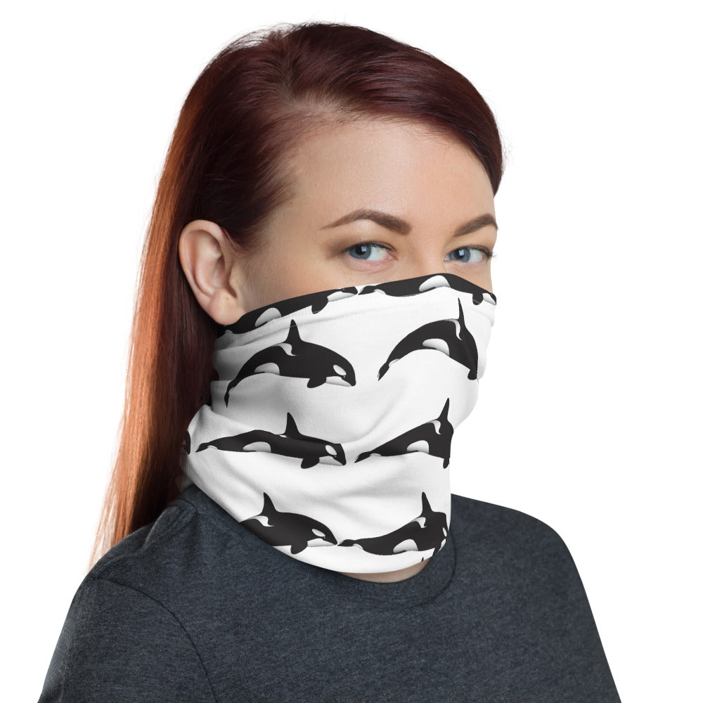 Orca Keiko Keep Them Wild Natalie Face Cover / Neck Gaiter