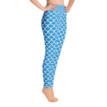 """The Mermaid Kayleigh"" Mermaid Scale Yoga Leggings"