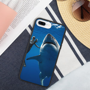 Biodegradable phone case featuring Grandma Great White and Ocean Ramsey