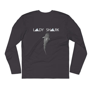 """Lady Shark Claire""  Long Sleeve Fitted Crew"