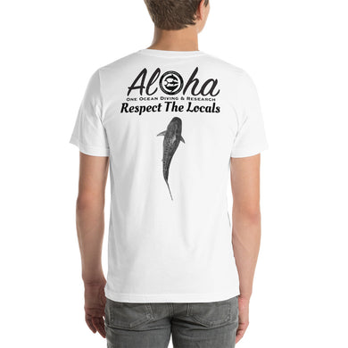 Captain Shiloh's Aloha & Respect the Locals Tiger Shark Shirt