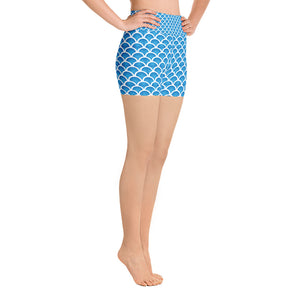 Mermaid Yoga Short Shorts