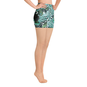 Turtle Tropical Yoga Shorts