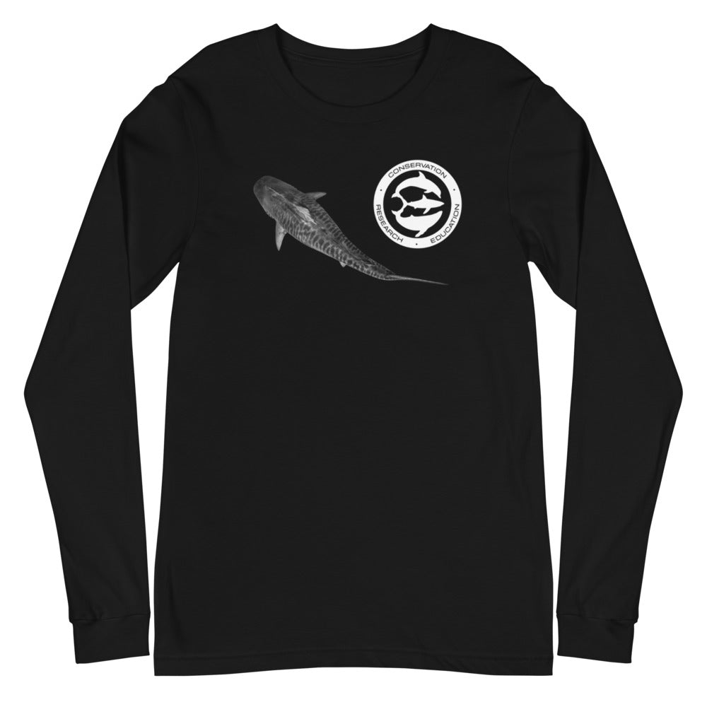 Tiger Style, shark smile, Unisex Long Sleeve Tee