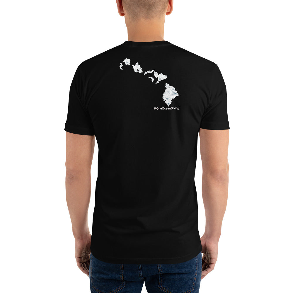 Aloha White Shark Teeth Islands @OneOceanDiving Short Sleeve T-shirt