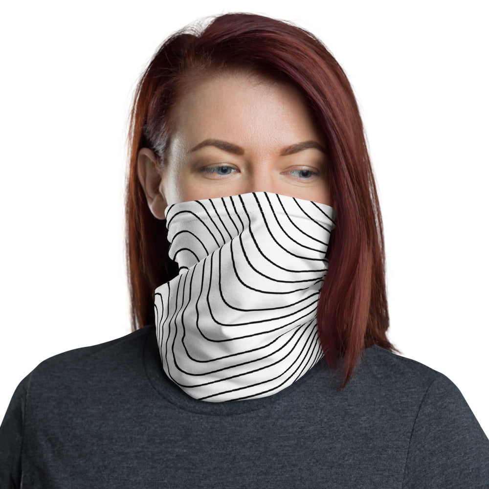 Ocean White Contour face Cover / Neck Gaiter