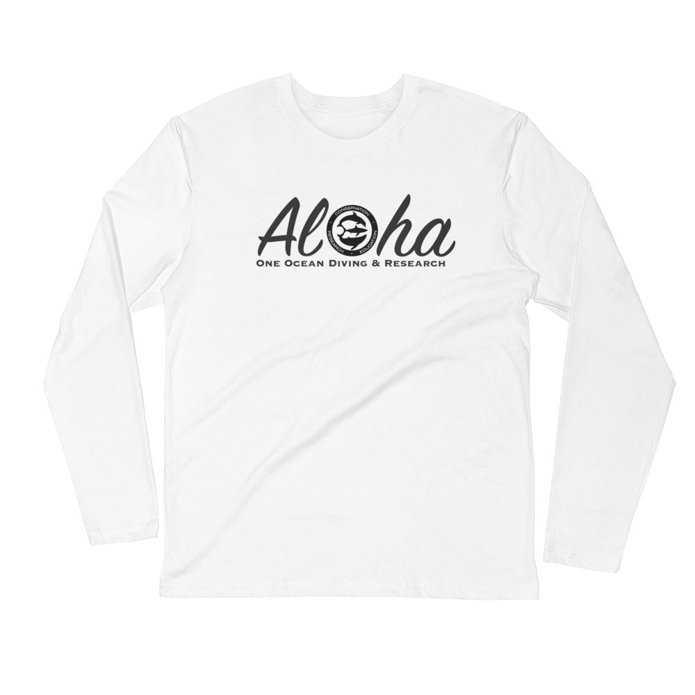 Aloha Tiger Shark Long Sleeve Fitted Crew