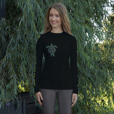 Save The Sea Turtles International Benefit Women's Rash Guard