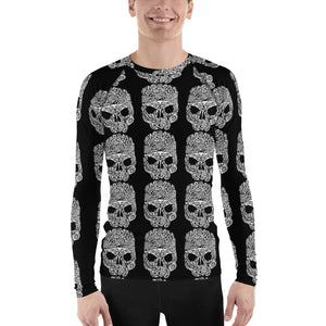 Skull Marine Life Skull Tattoo Design Men's Rash Guard