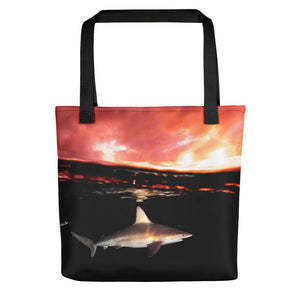 Sandbar Sunset reusable Tote bag