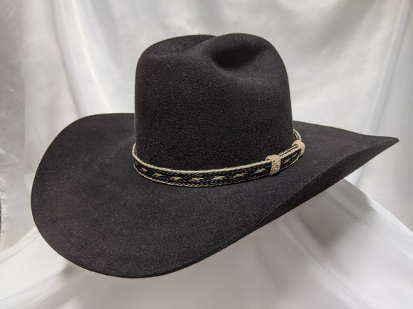 Cattlemans 7 1/2 - Black (100X) #20-059 - DBarJHats