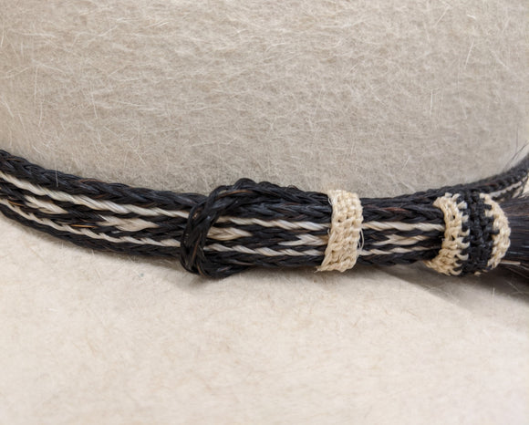 Horsehair Hatband, Single Tassel Side Pull #2 - DBarJHats