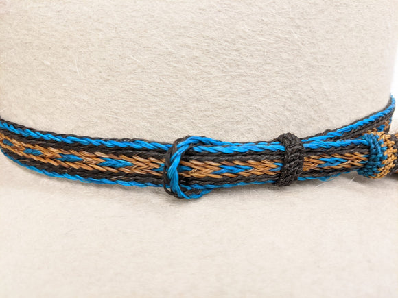 Horsehair Hatband, Single Tassel Side Pull #10 - DBarJHats