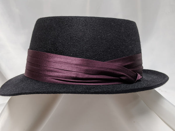 PC Pork Pie 7 1/4 - Black (Silver) #19-238 - DBarJHats