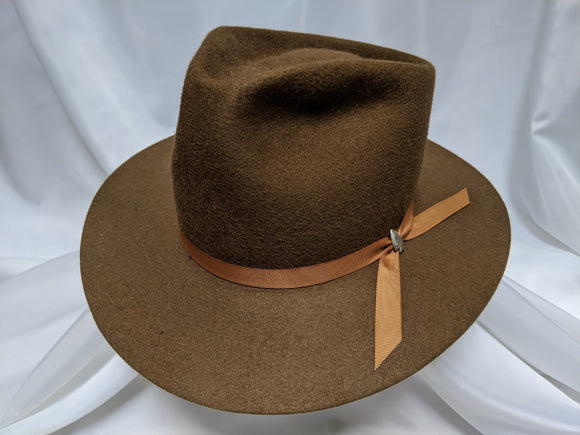 PC Fedora 7 1/4 - Whiskey (Silver) #19-077 - DBarJHats