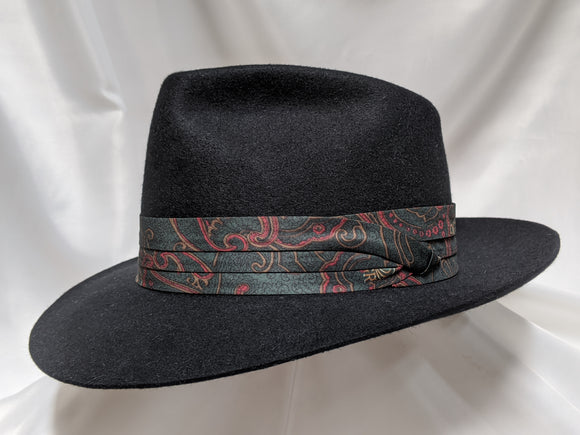 Fedora 7 1/2 - Black (100X) #19-092 Platinum Collection
