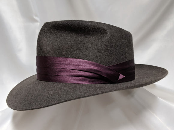 Fedora 7 1/2 - Dark Gray (100X) #19-201 Platinum Collection