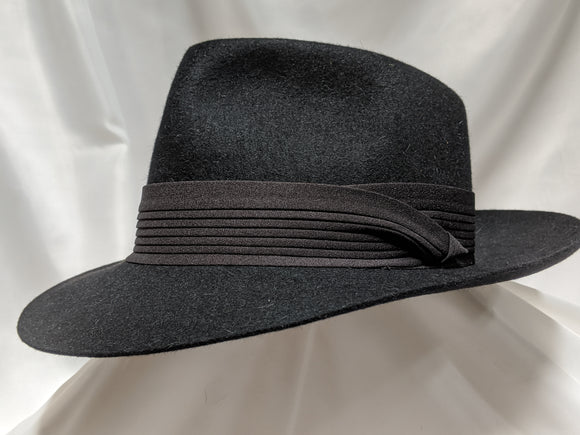 Fedora 7 1/4 - Black (10X) #19-068 Platinum Collection