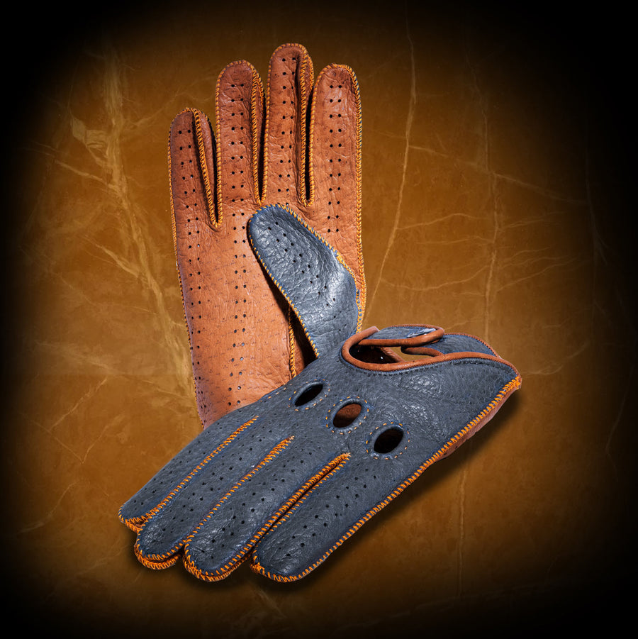 GULF inspired driving gloves - CUSTOM MADE