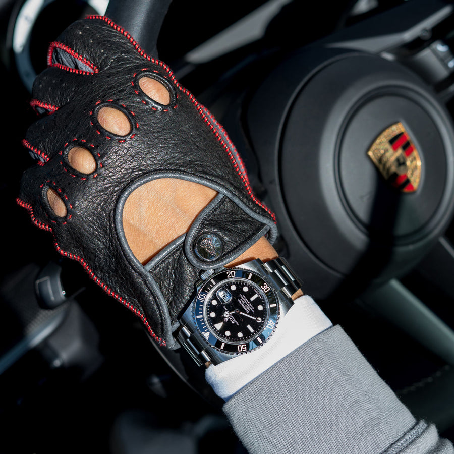 Rosso acceso Red driving gloves