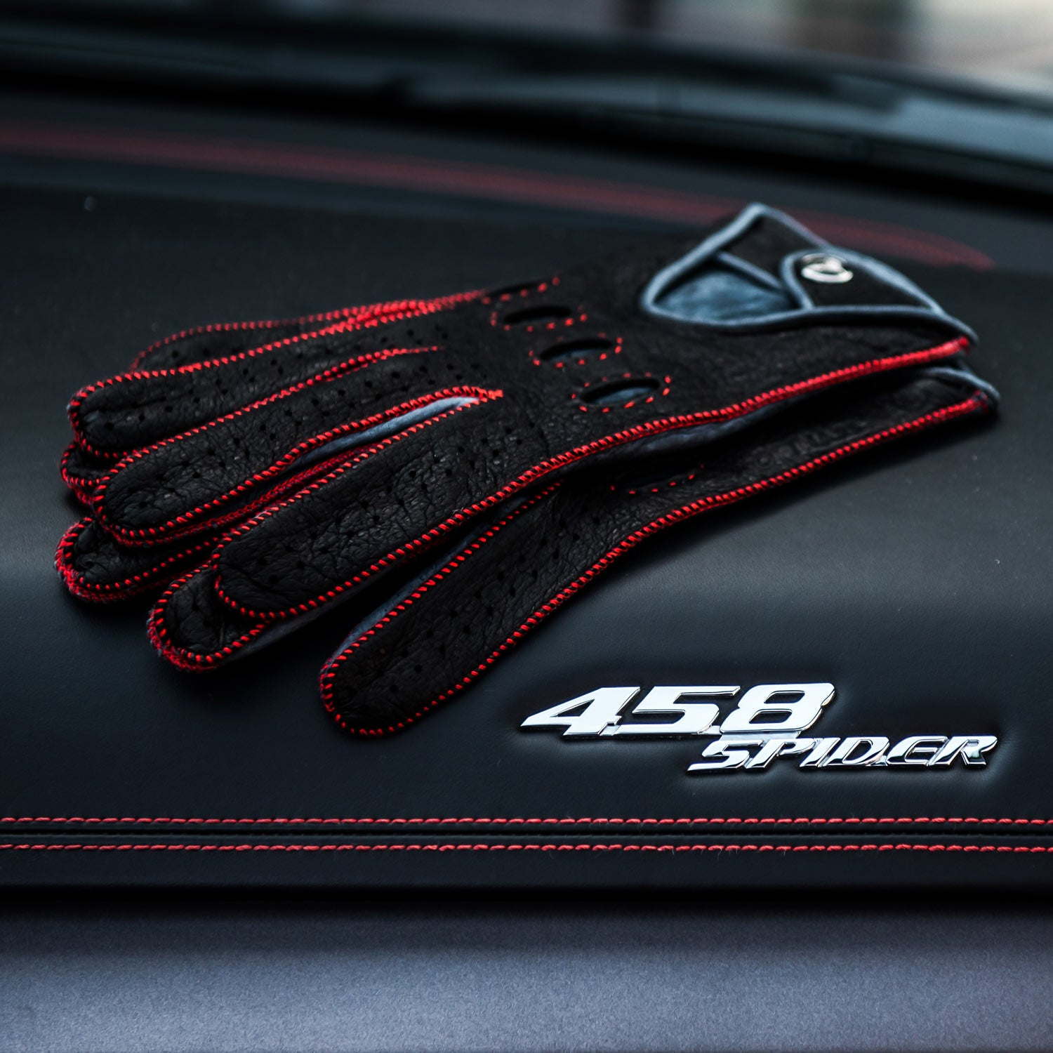 Rosso Acceso Red Men S Driving Gloves