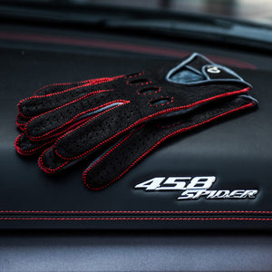 Red leather driving gloves Ferrari