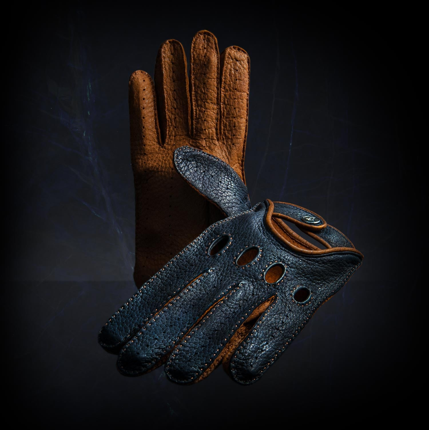 Blu notte driving gloves