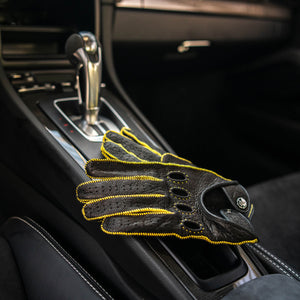 Porsche Yellow Driving Gloves