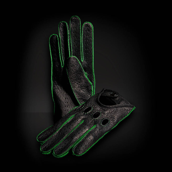 Hell Green Driving Gloves
