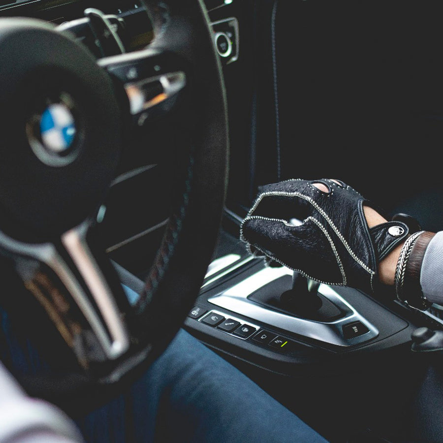 Perla blu driving gloves - CUSTOM-MADE