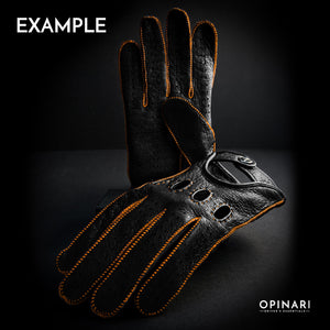 Personalize driving gloves