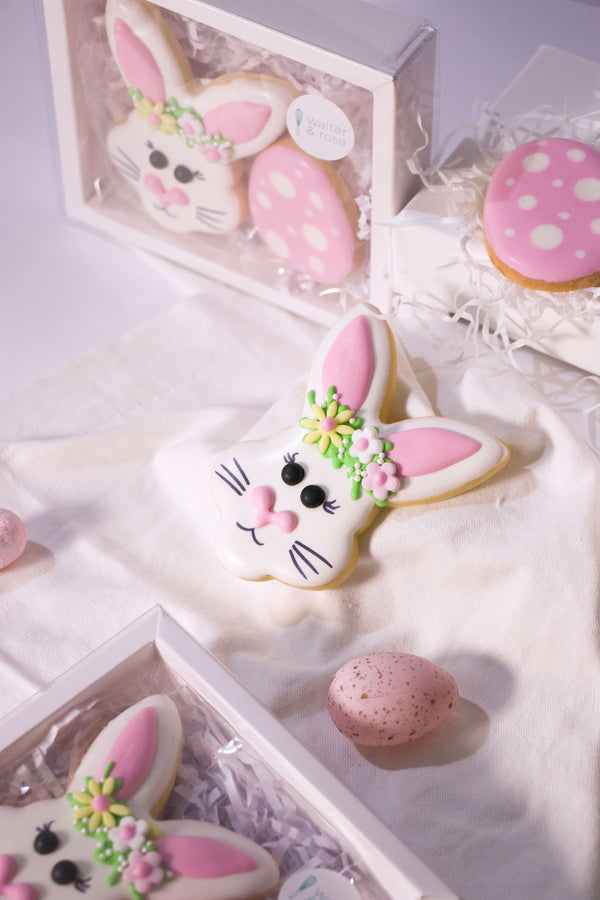 Boxed Bunny & Egg Cookies - Pink
