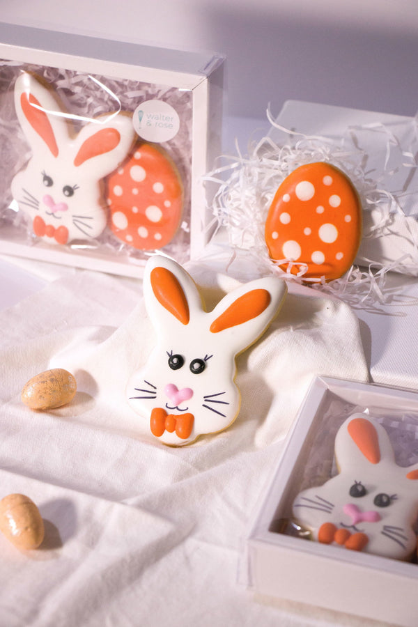 Boxed Bunny and Egg Cookies - Orange