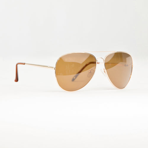 AMELIA SUNGLASSES - BROWN/GOLD