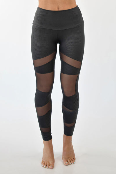 YOUR'E A MESH LEGGINGS - BLACK