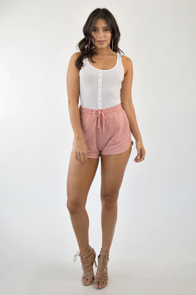 ON TRACK SHORTS - BLUSH