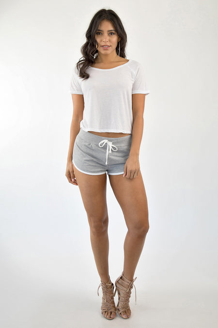 ON TRACK SHORTS - GRAY