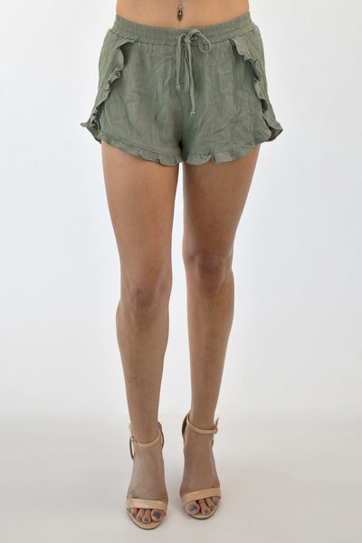 CALL ME BAMBI SHORTS - OLIVE