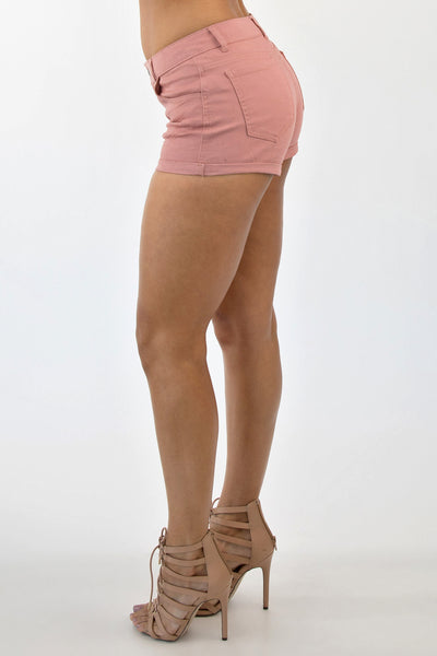 CUFF ME UP SHORTS - BLUSH