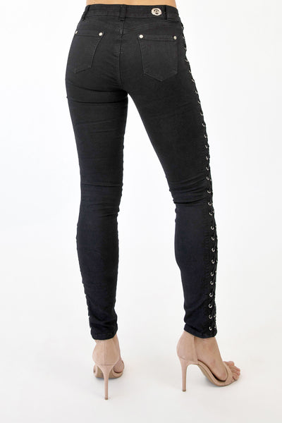 JESSICA LACE UP JEANS