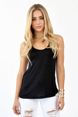 CLAIM TO FAME TANK TOP - BLACK