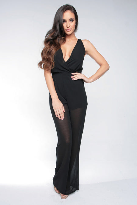 SIN CITY JUMPSUIT - BLACK