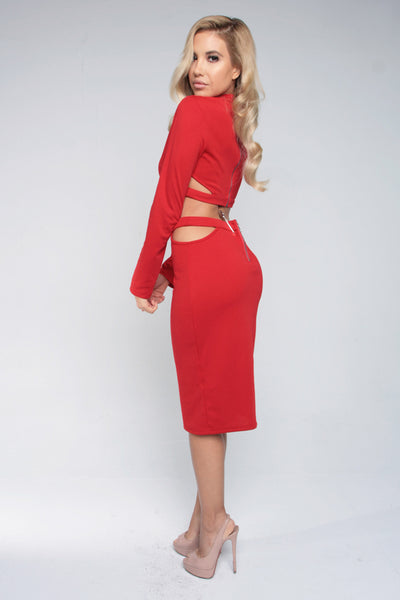 UNDER LOCK AND KEY SKIRT - RED