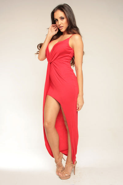 KNOT YOUR GAL DRESS - RED
