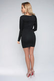 CAN'T V STOPPED DRESS - BLACK