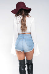 ELLA CROP TOP - WHITE