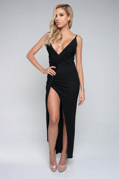 KNOT YOUR GAL DRESS - BLACK